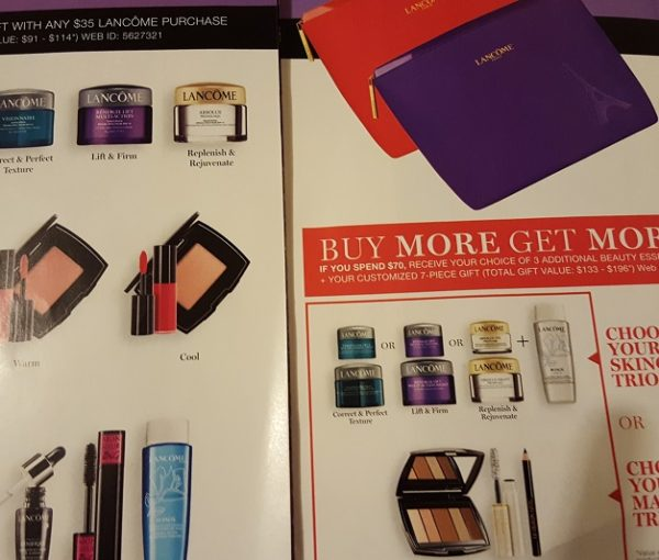 Lancome & Clinique gift